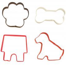 Set 4 talladors galetes gos