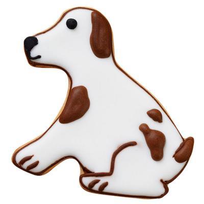 Juego 4 cortadores galletas perro