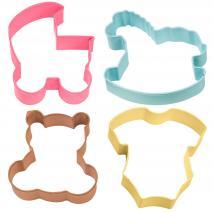 Juego 4 cortadores galletas baby