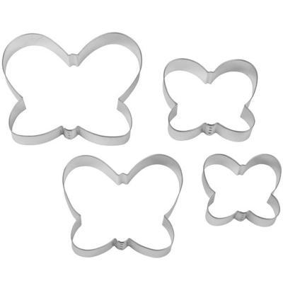 Juego 4 cortadores galletas mariposa 6-13 cm