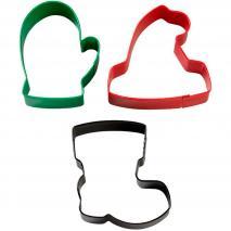 Set 3 talladors galetes de Nadal Winterwear