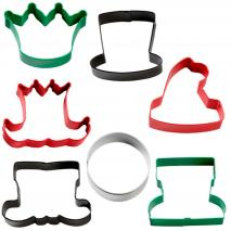 Set 7 talladors galetes metàl.lics Nadal caracters