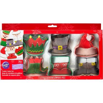 Set 18 cortadores galletas metálicos Navidad carac