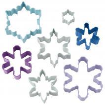 Juego 7 cortadores galletas Copos de nieve