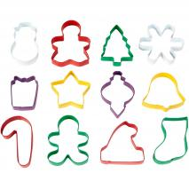 Juego 12 cortadores galletas Navidad