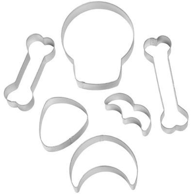 Set 6 cortadores galletas Esqueleto