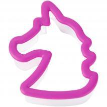 Cortador galletas plástico comfort grip Unicornio
