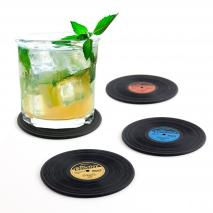 4 posavasos disco vinilo The coaster