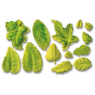 Molde fondant hojas x13 cav., 1-3 cm