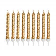 Set de 10 espelmes daurades