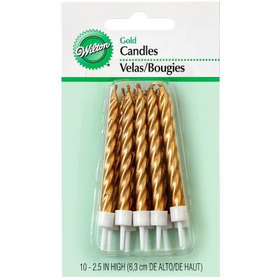 Set de 10 velas doradas