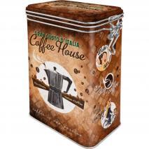 Caja metálica con clip Coffee House