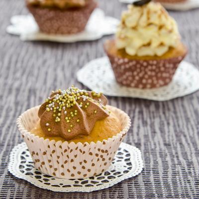 Papel cupcakes Caramell x50