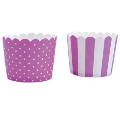 Moldes cupcakes cartón violeta x12