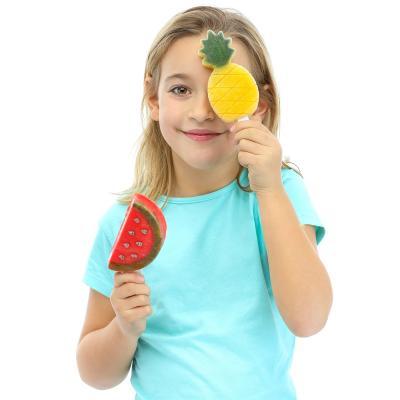Juego 4 moldes helados frutas tropicales