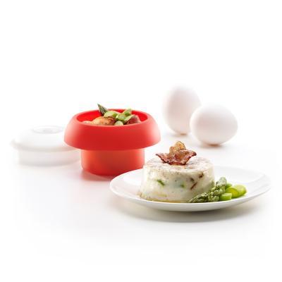 Molde ovo silicona para huevos cilíndrico