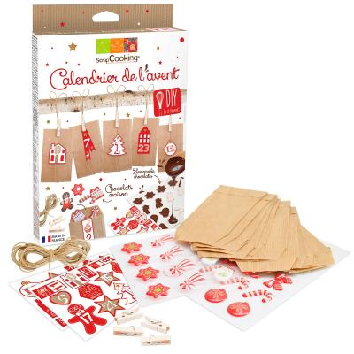 Kit calendario adviento navidad transfer chocolate
