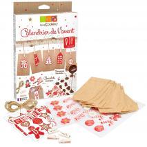 Kit calendario adviento navidad transfer chocolate