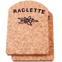 2 salvamanteles Raclette corcho