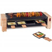 Raclette eléctrica madera Grill and Pizza 8p 1450W