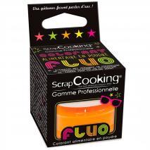 Colorant alimentari pols Fluorescent 3 g taronja