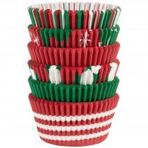 Papel cupcakes variado navidad x150