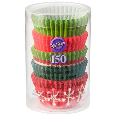 Papel mini cupcakes x 150 Navidad