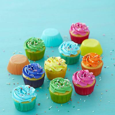 Papel cupcakes x300 Arcoiris