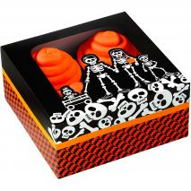 Juego 3 cajas para 4 cupcakes Esqueleto
