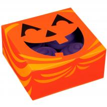 Juego 3 cajas para 4 cupcakes Jack O Lantern