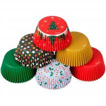 Papel cupcakes x150 Navidad