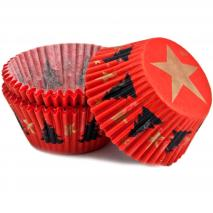 Papel y molde cupcakes navidad Sapin