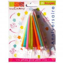 Velas pastel colores  x20