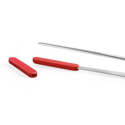 Pinzas chef rectas y finas 30 cm punta silicona