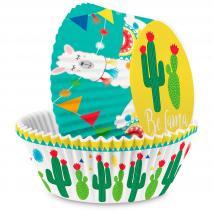 Papel cupcakes cactus x36