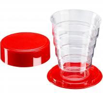 Vaso plegable con tapa plástico 125 ml