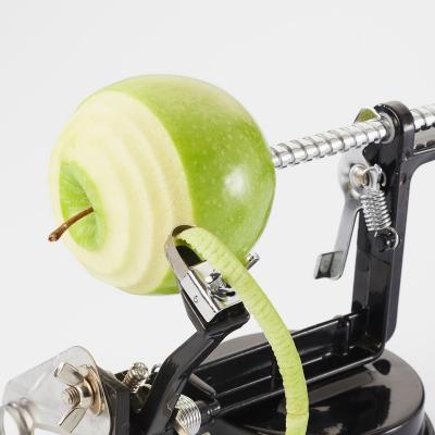 Pelador de manzanas con ventosa gris plata