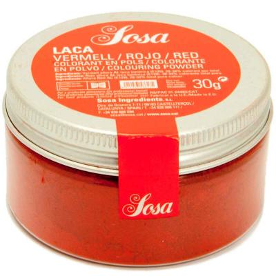 Colorante laca liposoluble polvo 30 g rojo