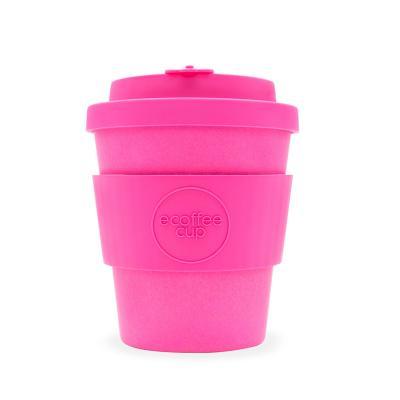 Taza bambú con tapa Ecoffee 250 ml Pink