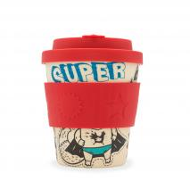 Tassa bambú amb tapa Ecoffee 250 ml Superhero Fuel