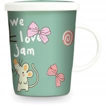 Tassa de te amb filtre Gat japonés