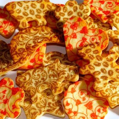 Hojas decoración ginger bread x6
