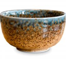 Bol japonés té matcha marrón 14 cm