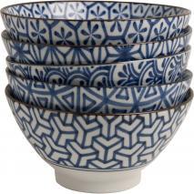 Bol japonès assortit motius blaus 18 cm