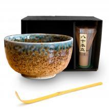 Set japonés té matcha marrón 3 piezas