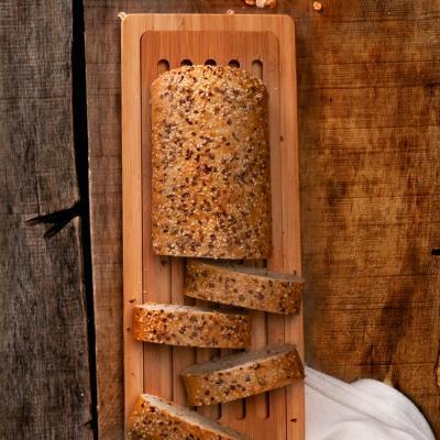 Tabla cortar pan baguette bambú larga 50x15