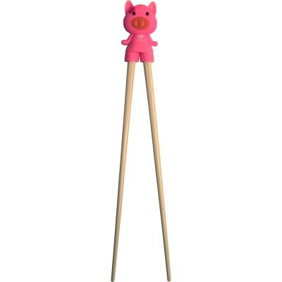 Palillos japoneses cerdito rosa