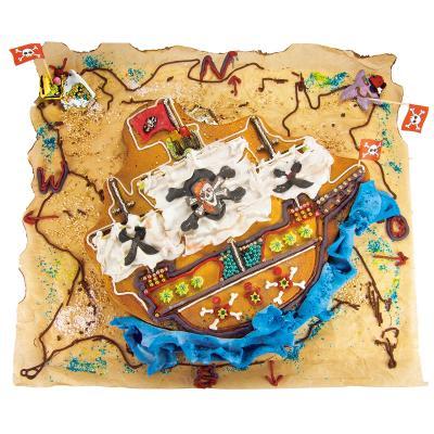 Molde barco pirata metálico33 cm