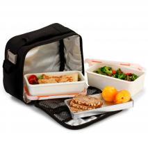 Bolsa porta-alimentos Nomad basic Ng/Gris + 2 tupp