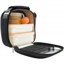 Bolsa porta-alimentos Nomad Satin negro +2 tuppers